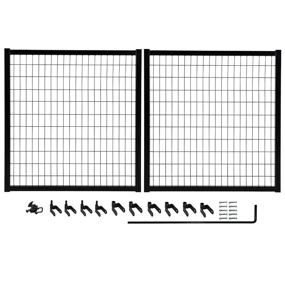 Yardgard Select 10 Ft W X 4 Ft H Powder Coated Steel Double Drive Fence Gate Kit 328820a The