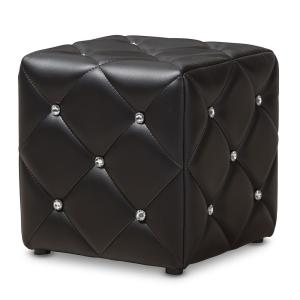 Pleasing Baxton Studio Stacey Black Tufted Ottoman 143 8147 Hd The Caraccident5 Cool Chair Designs And Ideas Caraccident5Info