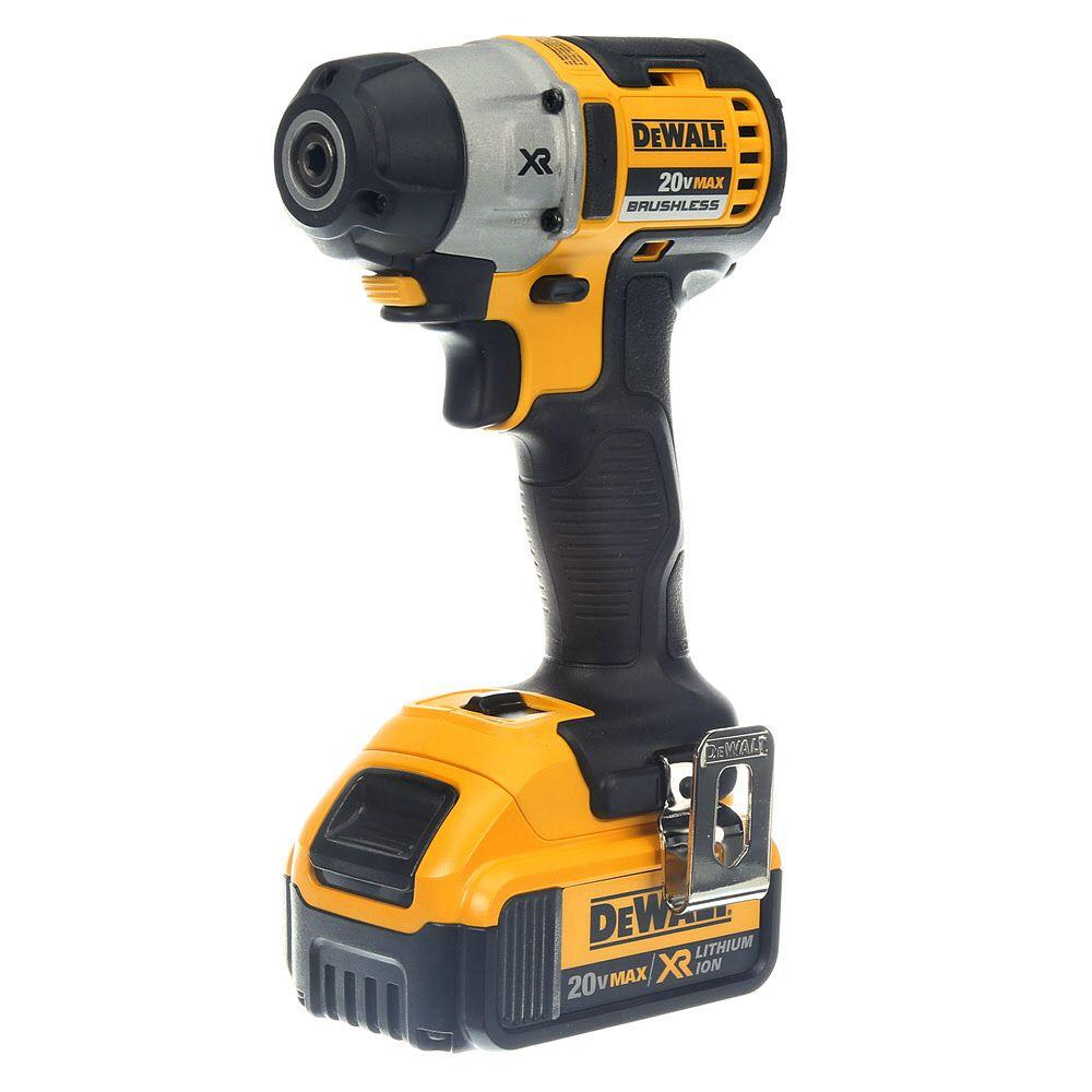 dewalt 20 volt max xr lithium ion 1 4 in cordless 3 speed brushless impact driver dcf895m2. Black Bedroom Furniture Sets. Home Design Ideas