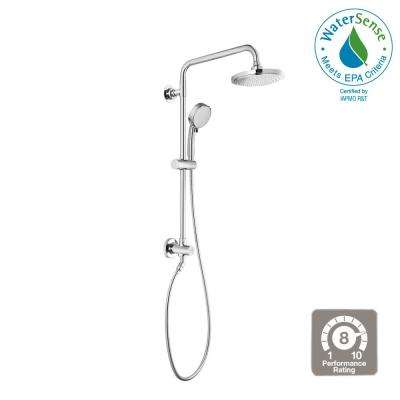 Vitalio Comfort Flex 5-Spray Handheld Shower and Shower Head Combo Kit in Chrome