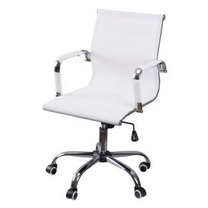 Awe Inspiring Bold Tones White Mesh Swivel Office Chair With Adjustable Lamtechconsult Wood Chair Design Ideas Lamtechconsultcom