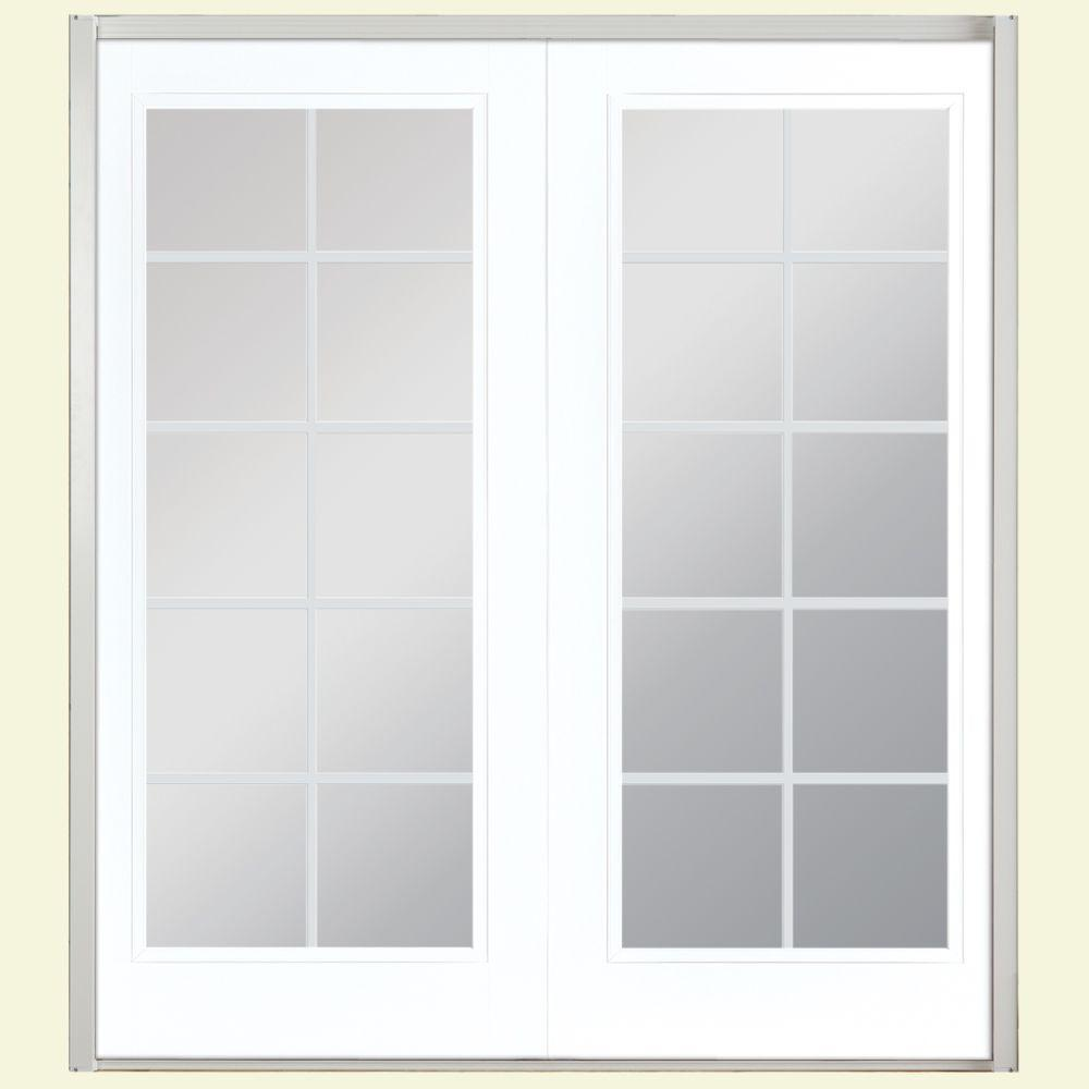 60 in x 80 in ultra white prehung left hand inswing 10 - 60 Patio Door