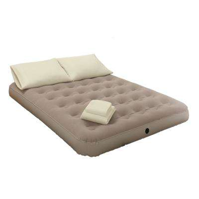 Queen 9 in. Ivory Bedding and Air Mattress Set