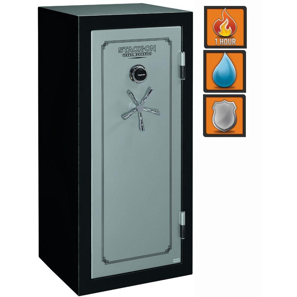 Stack-On Total Defense 13.5 cu ft. 22 Gun Fire/Waterproof Electronic Lock Safe with Door Storage-DISCONTINUED