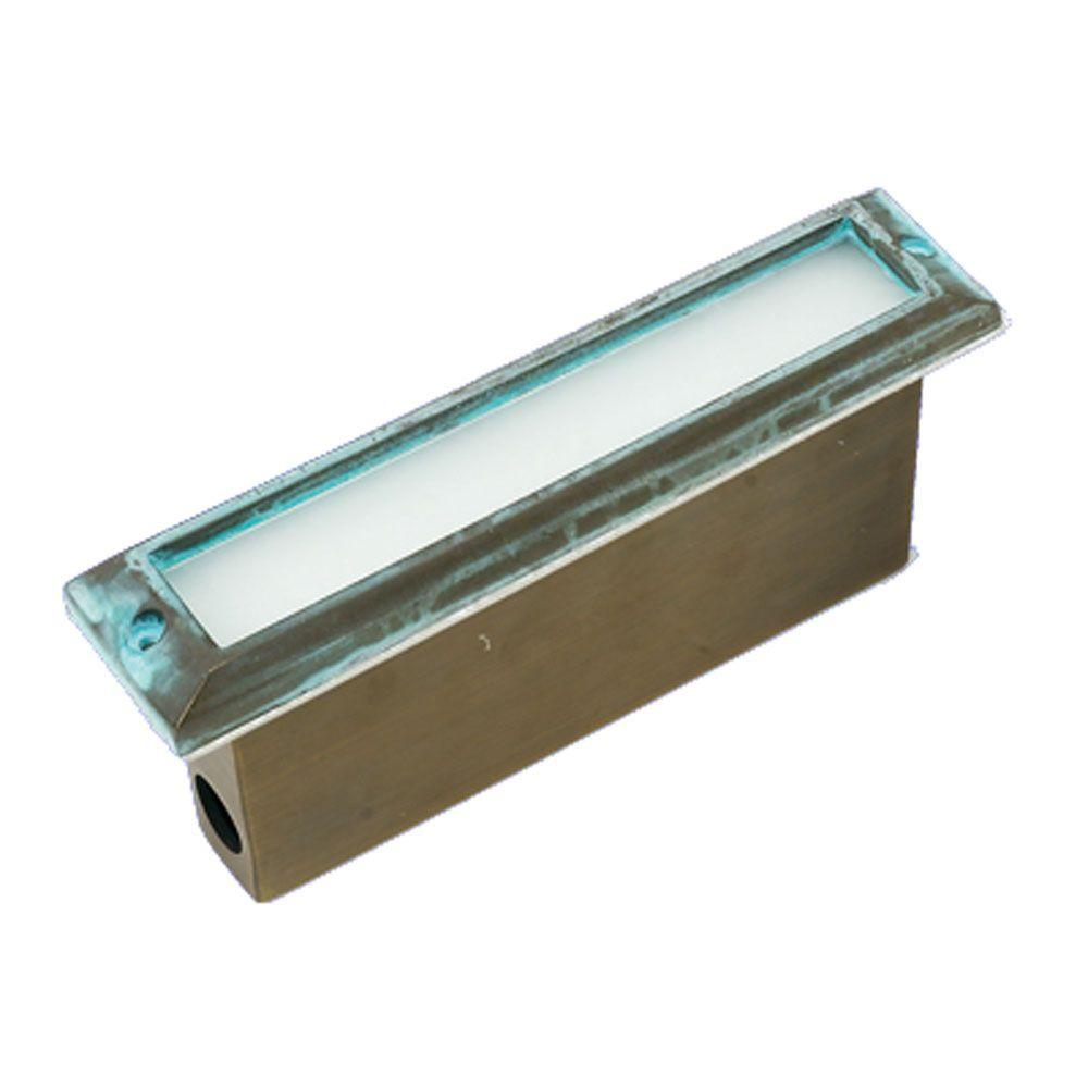 Best Quality Lighting 1-Light Verde Green Die Cast Brass Thinline Step Light