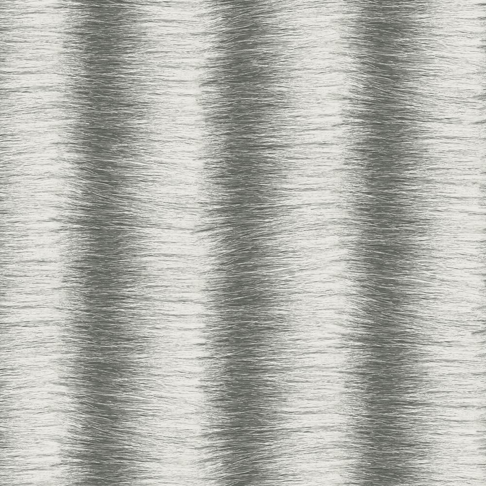 Patton Grey and Black Faux Zebra Fur Wallpaper G67953