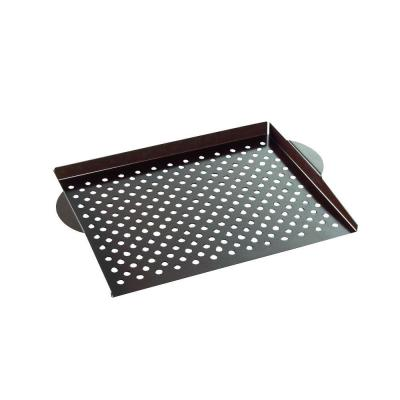 365 Grilling 14.25 in. Steel Nonstick Grill Pan in Black