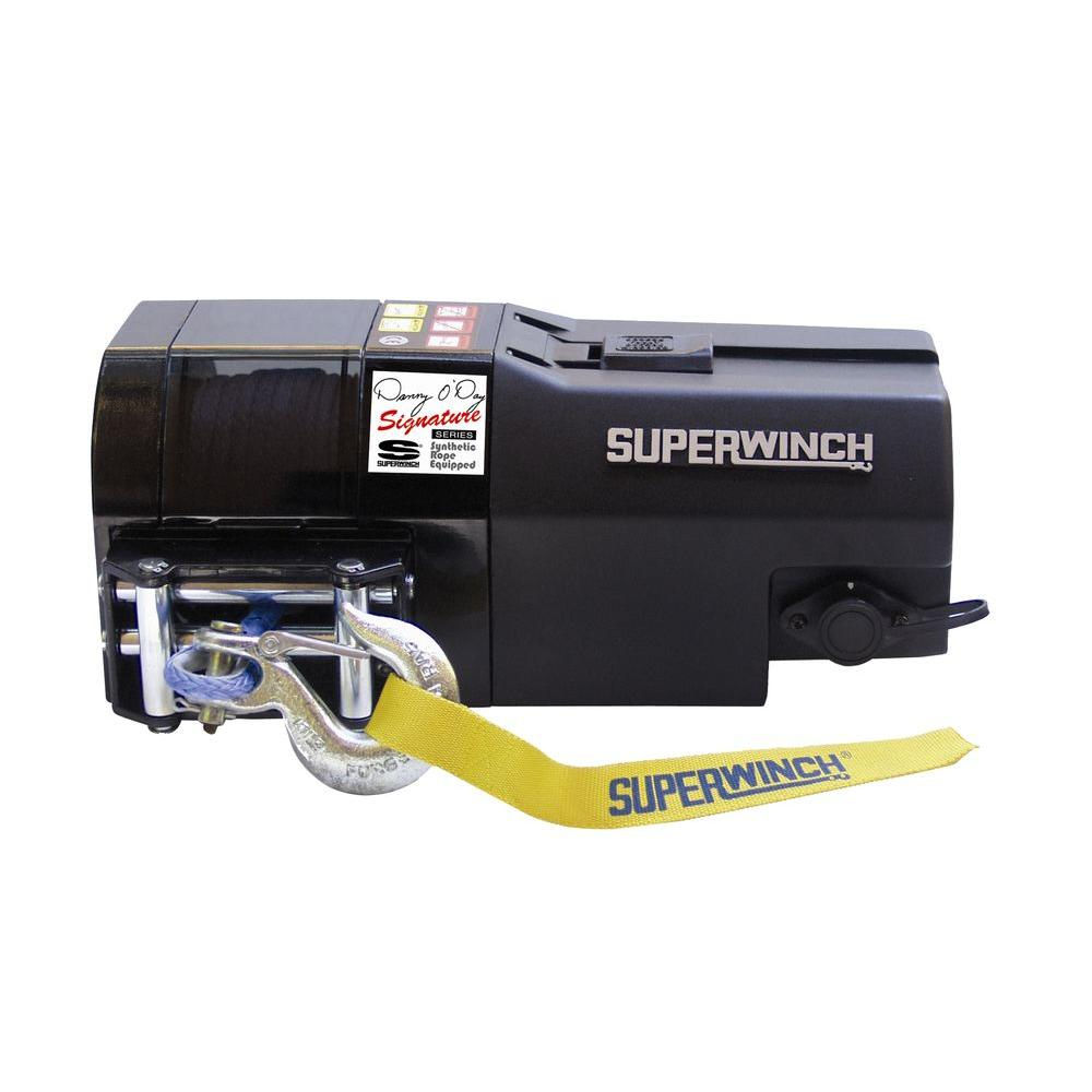 Superwinch S5000 12-Volt DC Performance Trailer Winch with Roller Fairlead and 30 ft. Remote