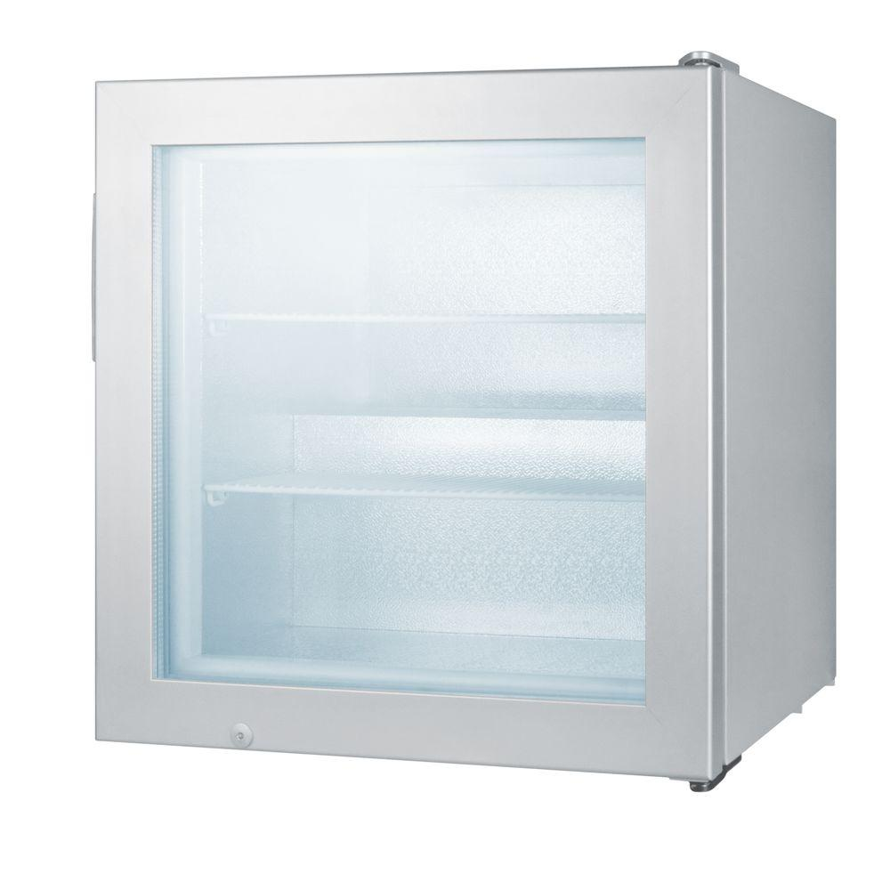 Upright Commercial Freezer In Gray