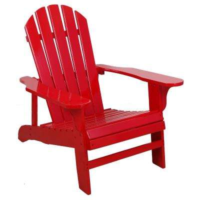 Red Wood Patio Adirondack Chair
