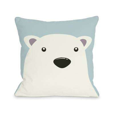 Polar Bear 16 in. x 16 in. Decorative Pillow