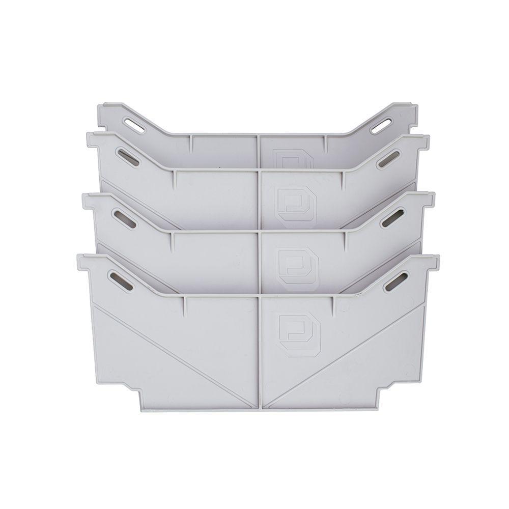 17.75 in. Drawer Divider Set for Pick Up Truck Storage System, Grey