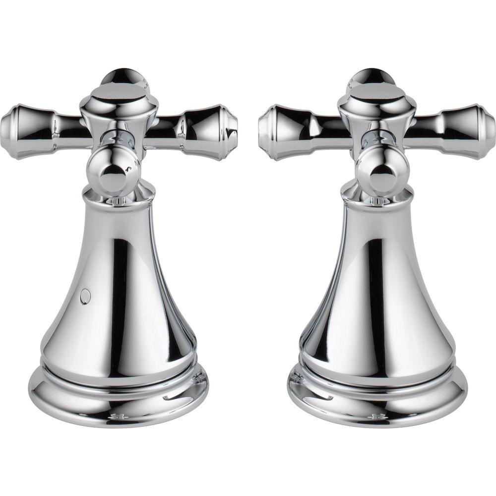 Delta Pair of Cassidy Metal Cross Handles for Roman Tub Faucet in ...
