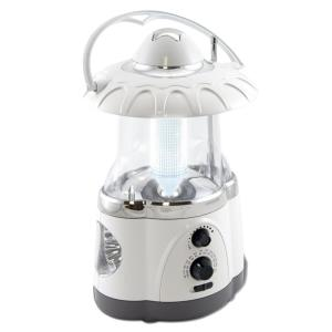 Northpoint Multifunction Battery Operated White Radio Lantern with Flashlight by Northpoint