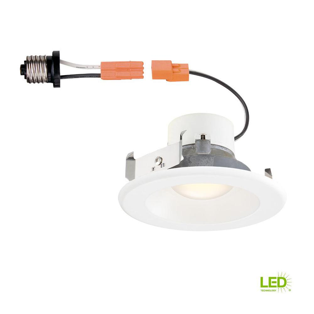 Utilitech 4 In White Integrated Led Remodel Recessed Light: EnviroLite 4 In. 3000K White Remodel Integrated LED