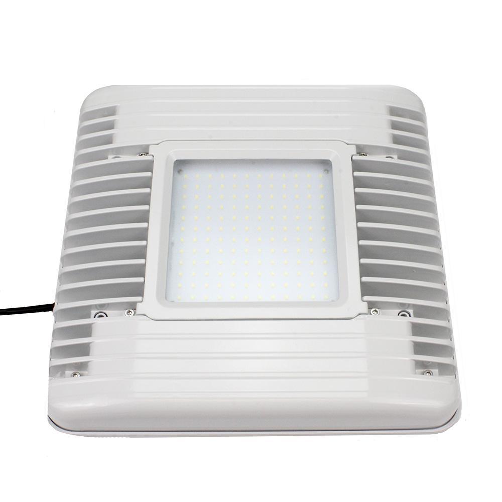 60-Watt White Integrated LED Flushmount Canopy Light 7,200-Lumen 5000K CCT