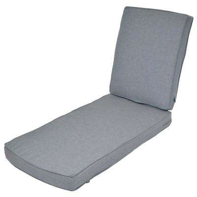 Spa Replacement 2-Piece Outdoor Chaise Lounge Cushion