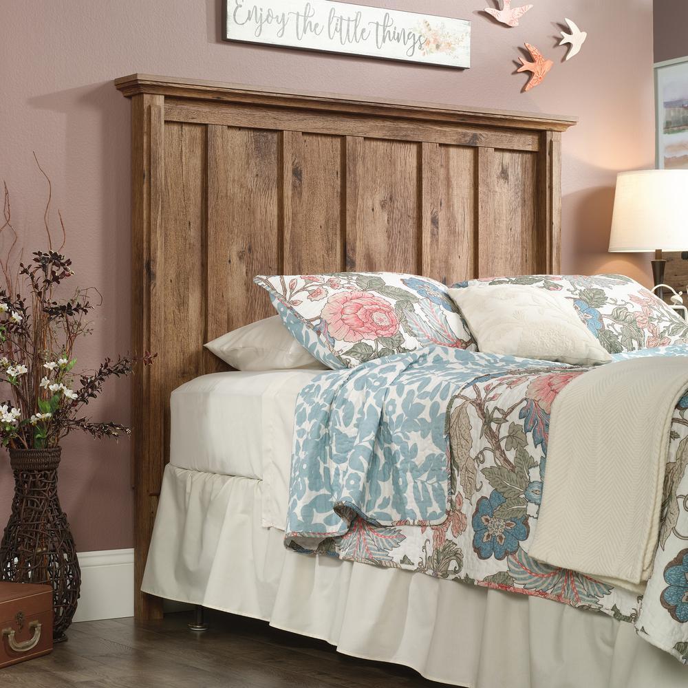 New Bedroom Bed Volleyball Bedroom Decorating Ideas Rustic Bedroom Decor Diy Bedroom Blinds Ideas: SAUDER New Grange Vintage Oak Queen Headboard-423707
