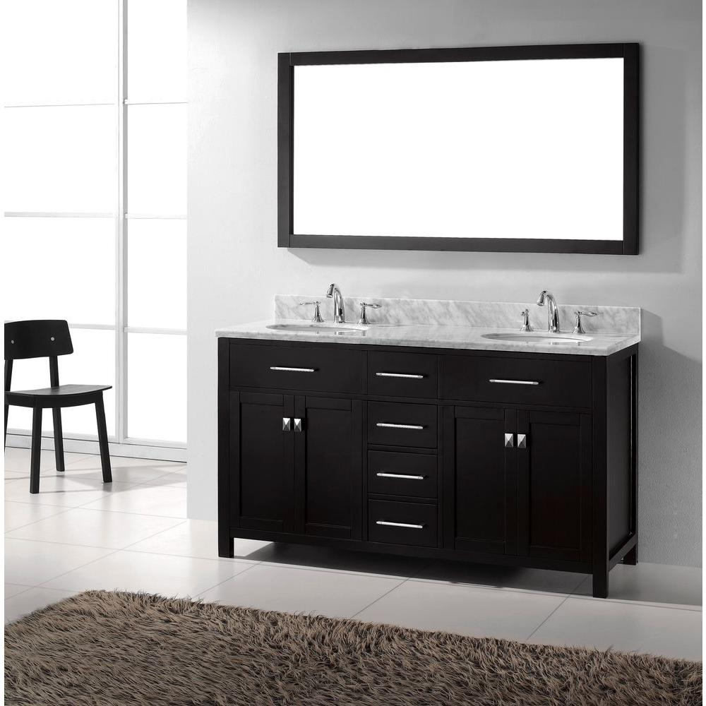Virtu Usa Caroline 60 In W Bath Vanity