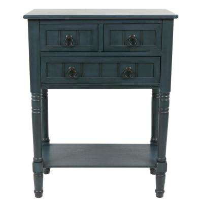 Westerman Navy Blue 3-Drawer Console