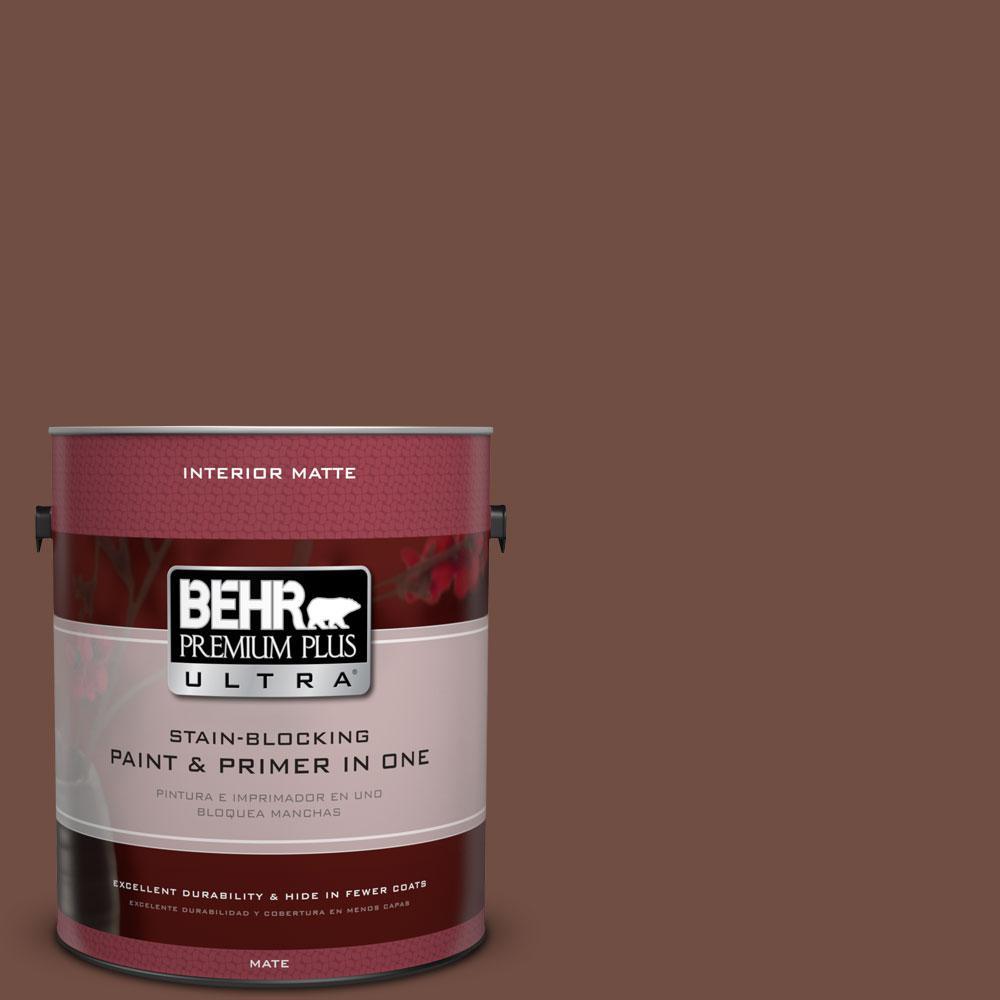 1 gal. #N160-7 Brown Velvet Matte Interior Paint