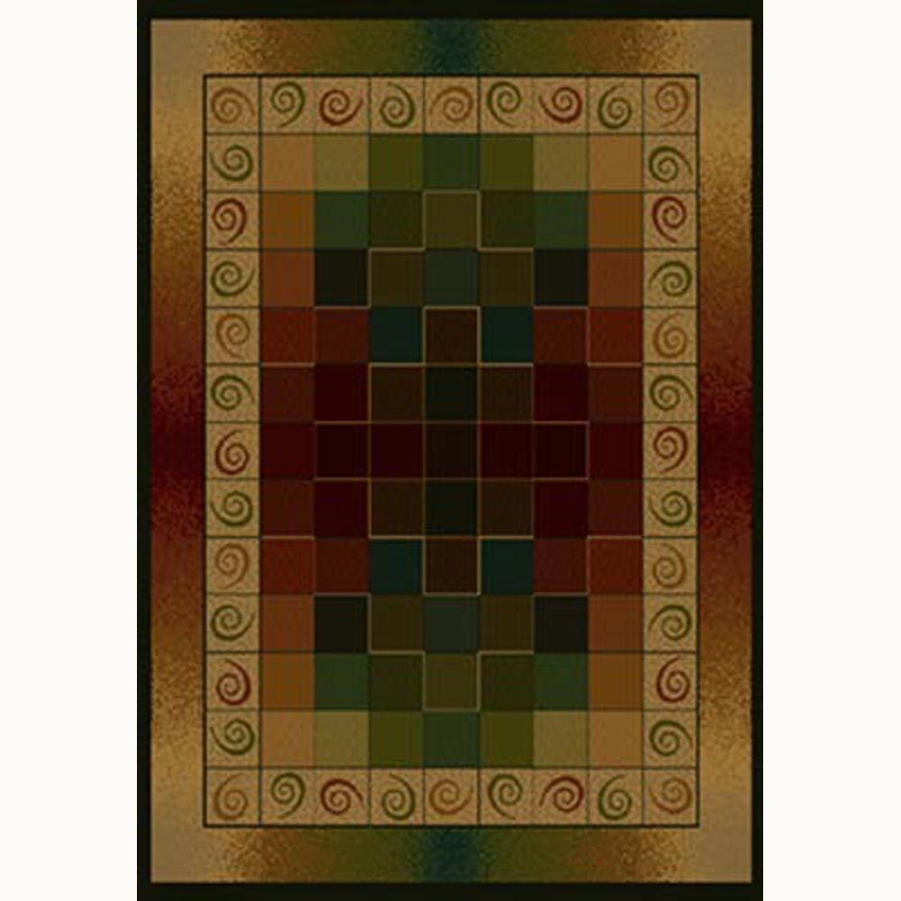 United Weavers Montage 5 ft. 3 in. x 7 ft. 6 in. Contemporary Area Rug