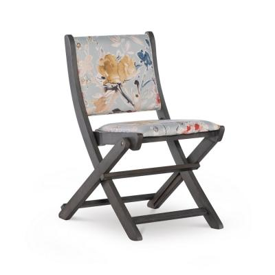 Cooper Grey Floral Folding Chair