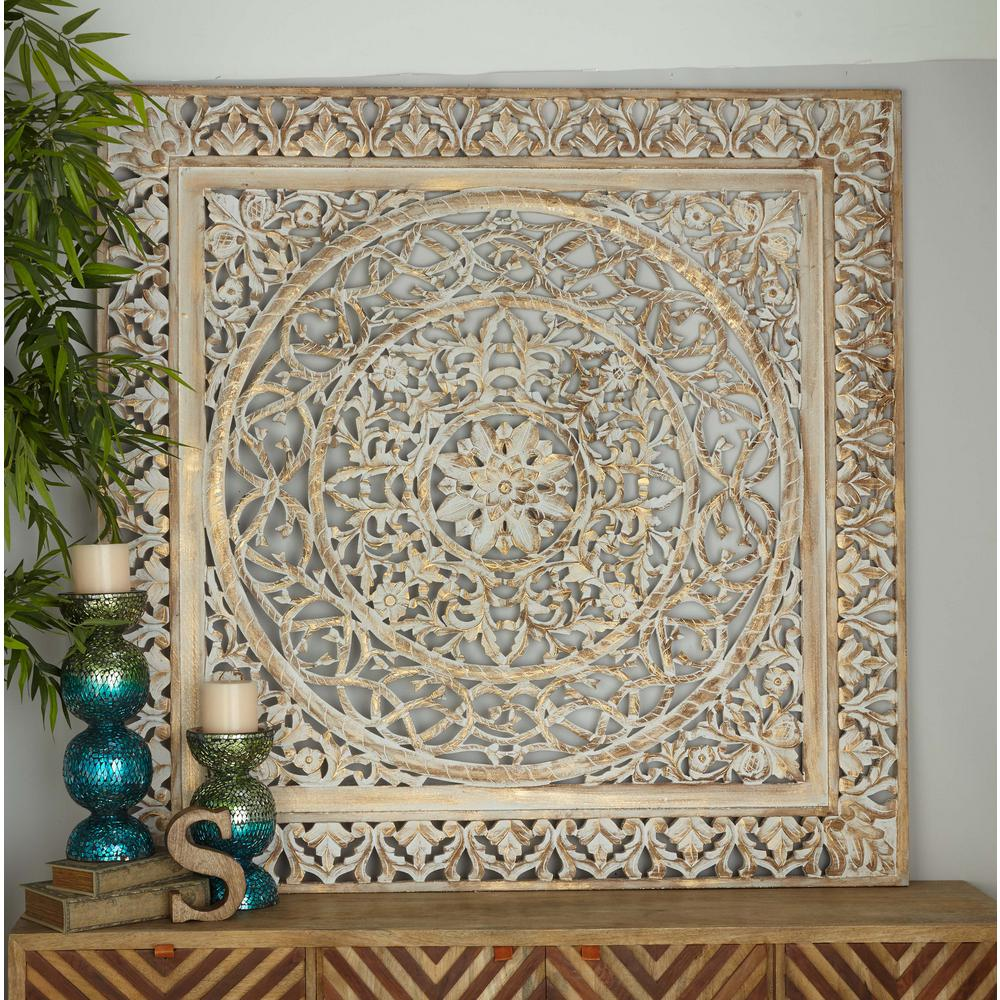 Decorative Wall Panels Home Depot : In rustic decorative carved filigree