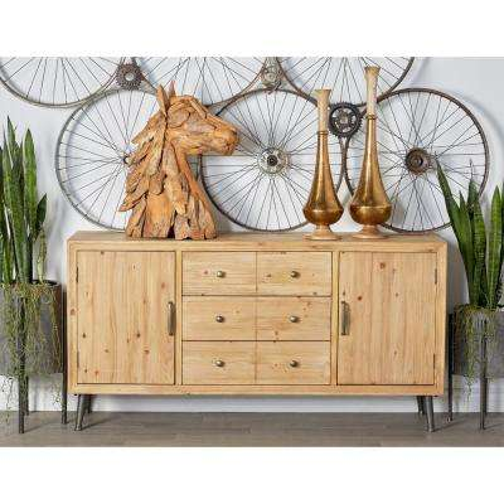 Light Brown Multipurpose Sideboard Cabinet