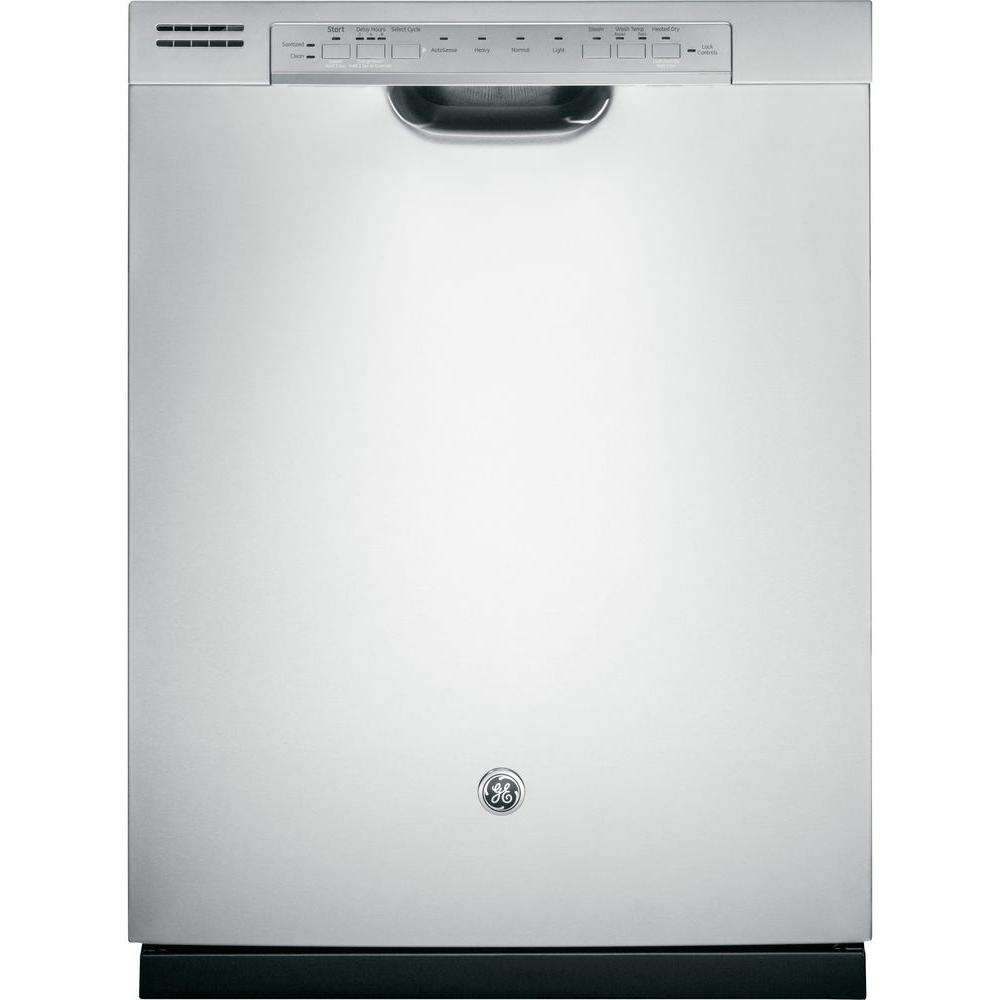 GE Front Control Dishwasher in Stainless Steel with Hybrid Stainless Steel Tub and Steam PreWash