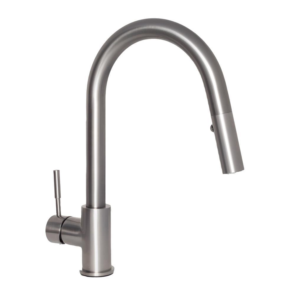 ZLINE Kitchen and Bath Arthur Single-Handle Pull-Down Sprayer Kitchen Faucet in Stainless Steel