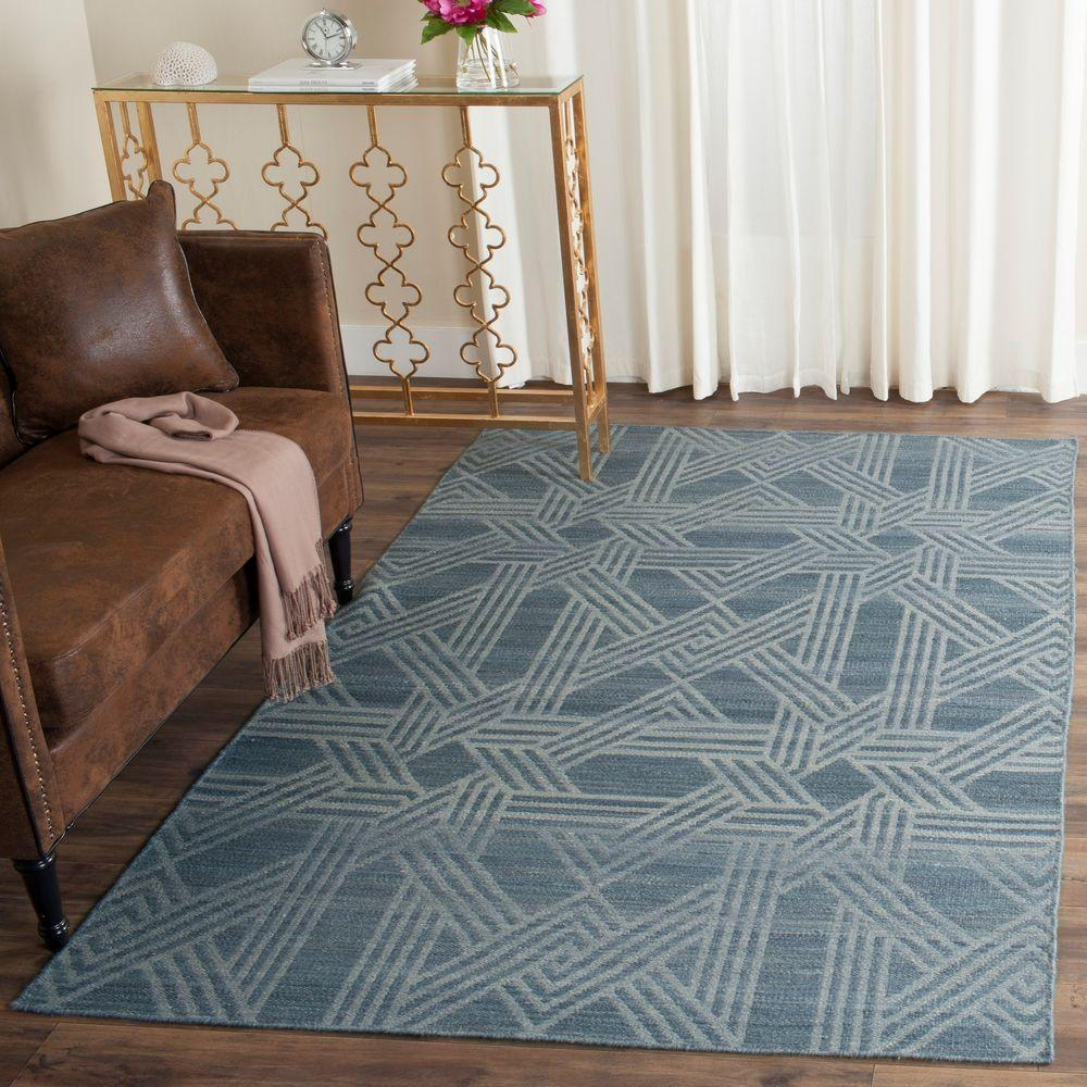 Safavieh Kilim Blue/Light Blue 4 Ft. X 6 Ft. Area Rug