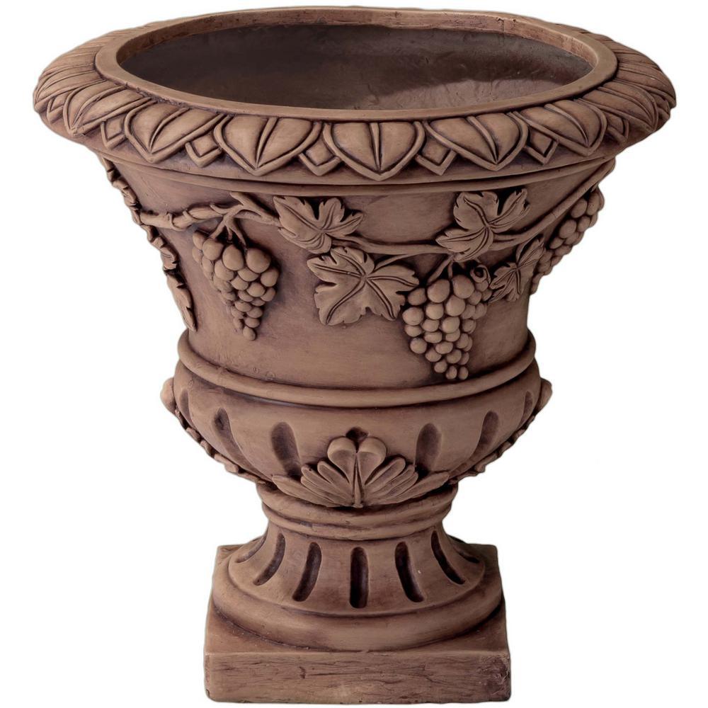 21 in. Light Brown Raiden Stone Urn Planter