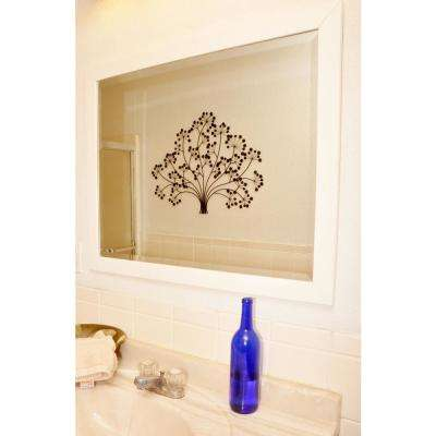 25.5 in. x 29.5 in. Polished White Floor Wall Mirror