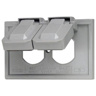 Gray 1-Gang Duplex Outlet Wall Plate (1-Pack)