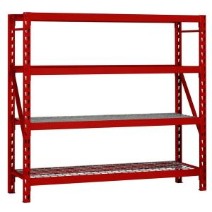 Edsal 72 In H X 77 In W X 24 In D 4 Shelf Steel Wire