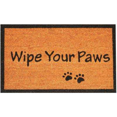 Wipe Your Paws 30 in. x 18 in. Coir Door Mat