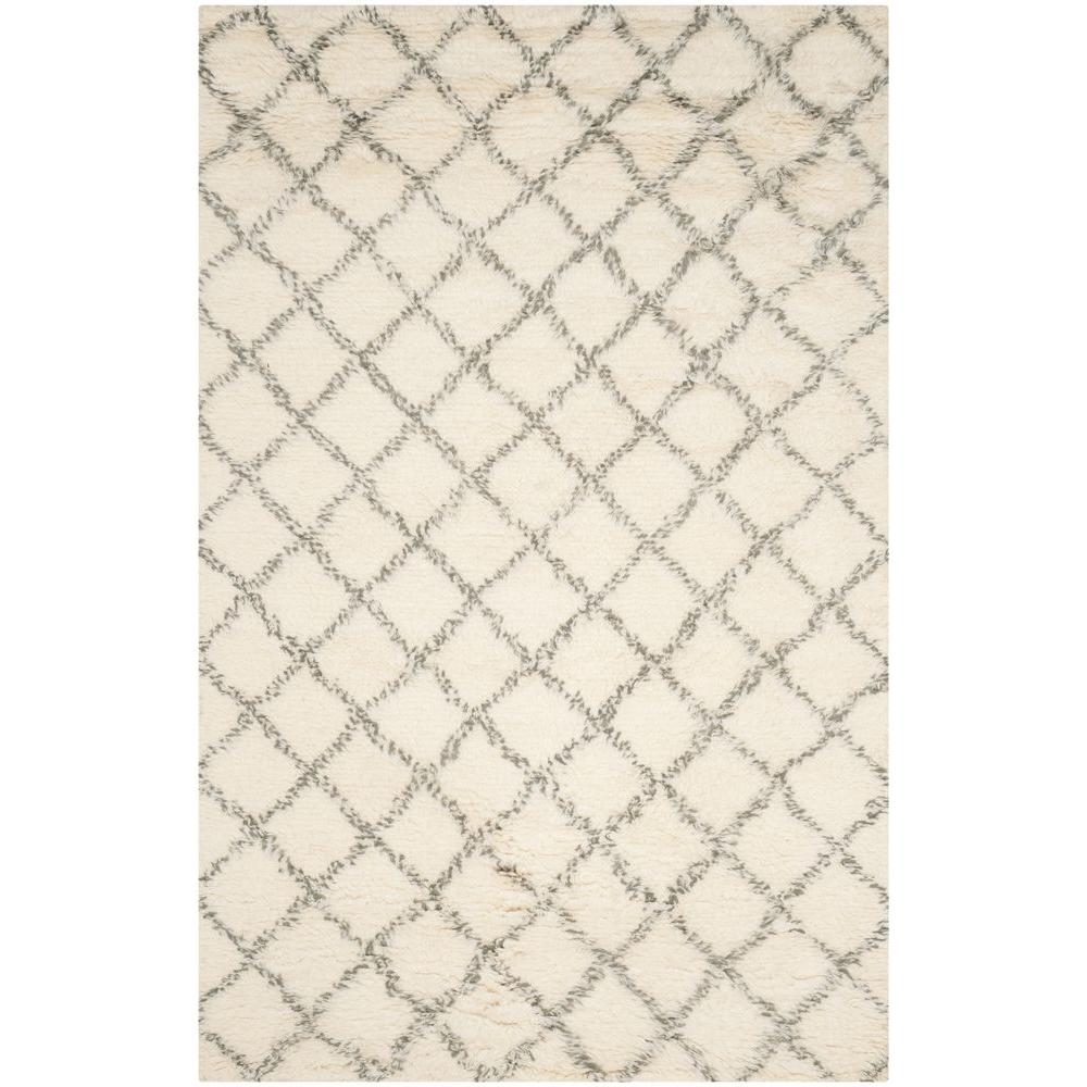 Safavieh Kenya Ivory/Grey 6 ft. x 9 ft. Area Rug