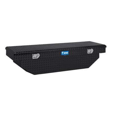63 in. Aluminum Black Single Lid Crossover Angled Tool Box