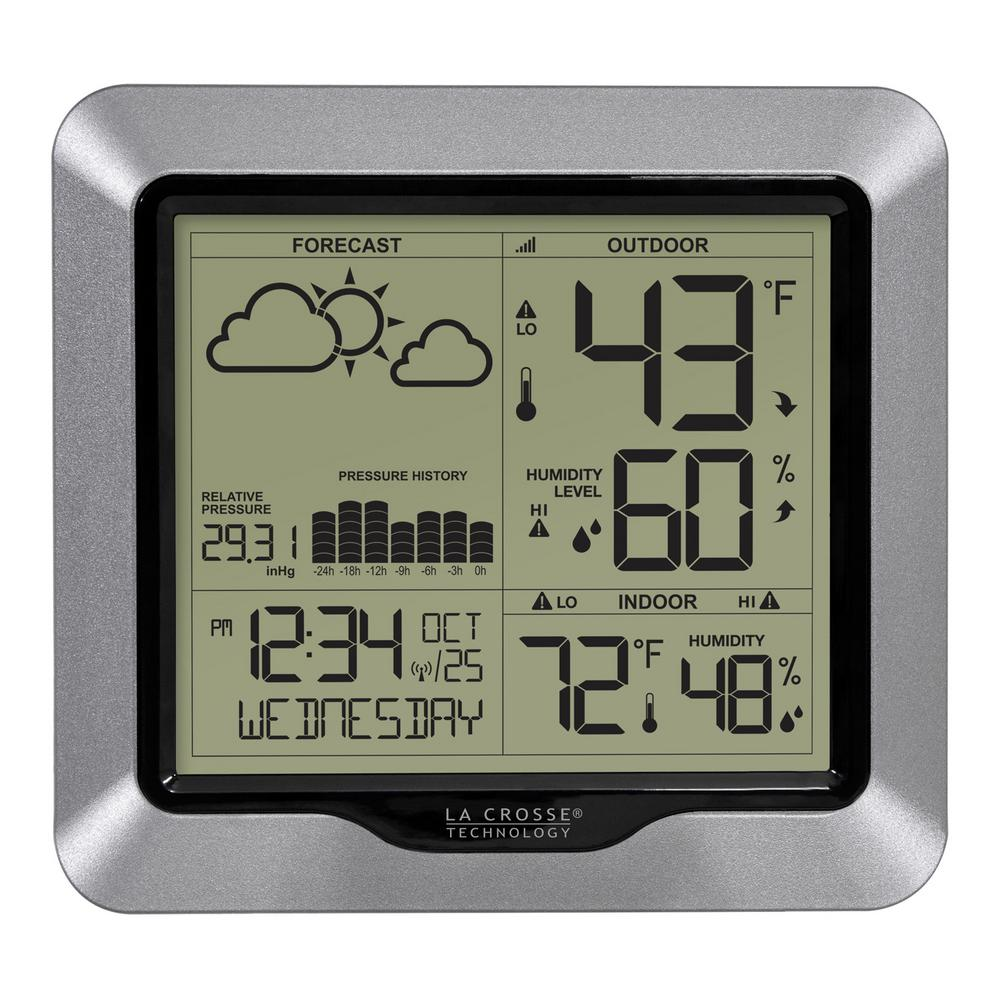 La Crosse Technology Wireless Digital Forecast Station With Pressure History And Graph