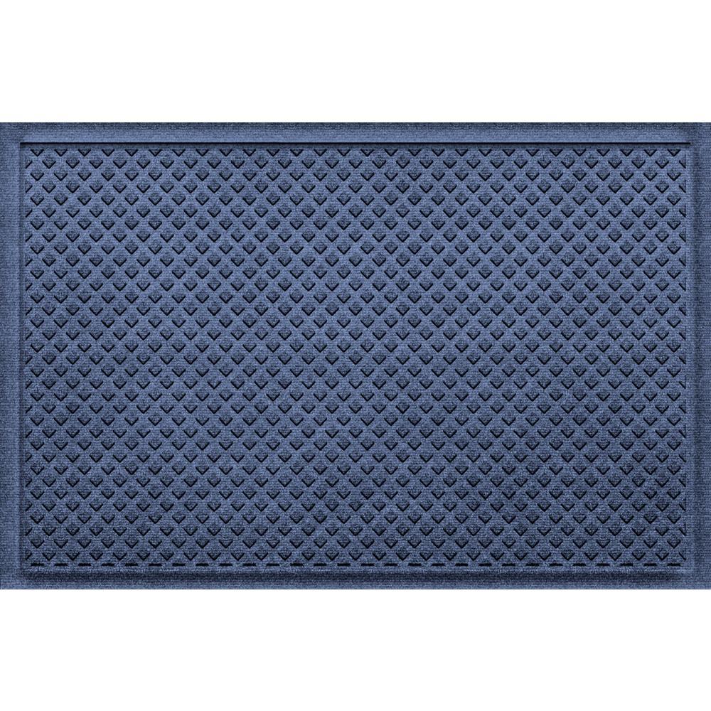 Gems Navy 24 in x 36 in Polypropylene Door Mat