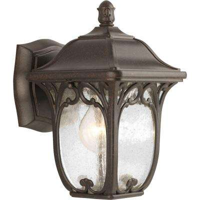 Enchant Collection 1-Light 10 in. Outdoor Espresso Wall Lantern