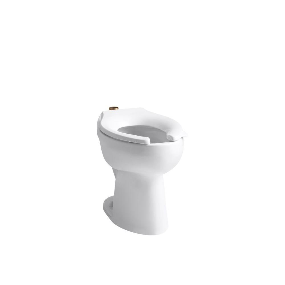 KOHLER Highcliff Elongated Toilet Bowl Only in White