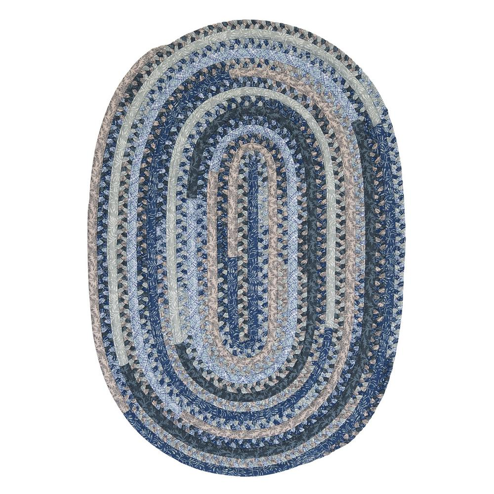 Monica Denim Wash 2 ft. x 4 ft. Oval Braided Area