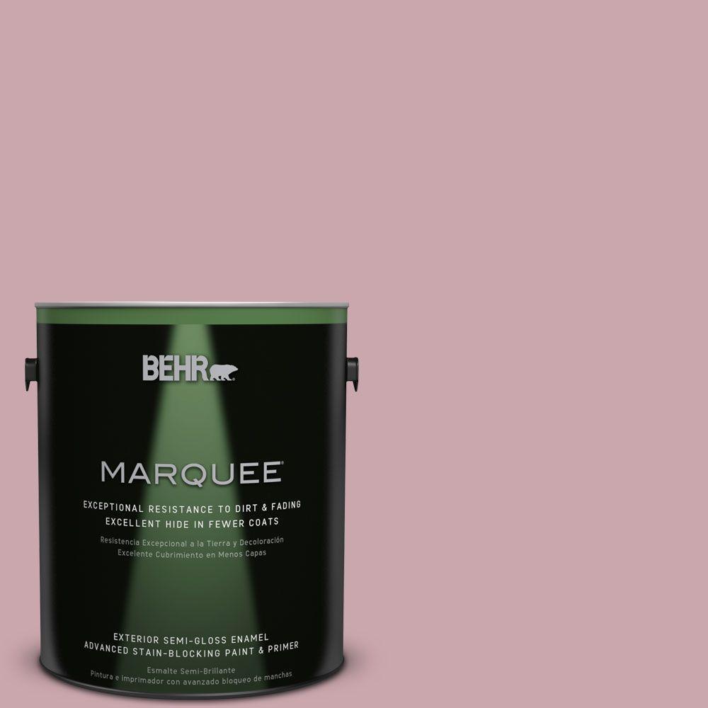 BEHR MARQUEE 1-gal. #MQ1-4 Dutchess Dawn Semi-Gloss Enamel Exterior Paint