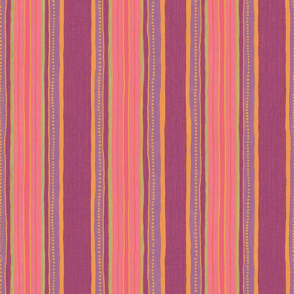 The Wallpaper Company 56 sq. ft. Brightly Colored Dotted Stripe Wallpaper-DISCONTINUED
