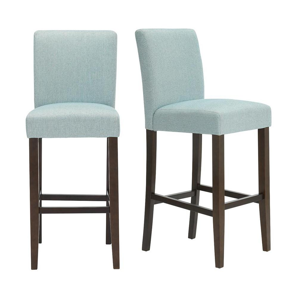 Astonishing Stylewell Banford Sable Brown Wood Upholstered Bar Stool Beatyapartments Chair Design Images Beatyapartmentscom