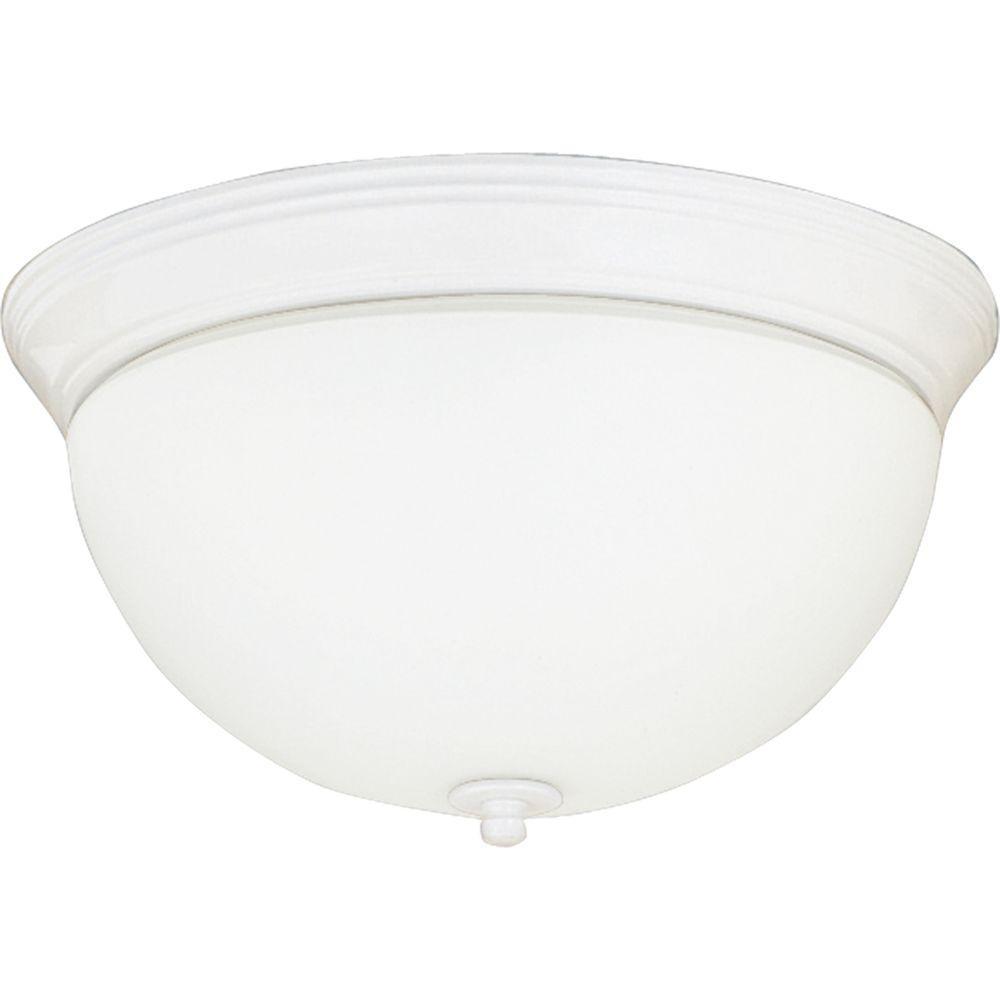 Progress Lighting White 3-light Flushmount -DISCONTINUED