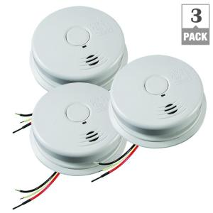 kidde hardwire smoke detector with 10 year battery backup and voice