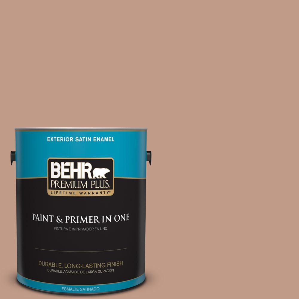 1-gal. #S200-4 Chestnut Bisque Satin Enamel Exterior Paint
